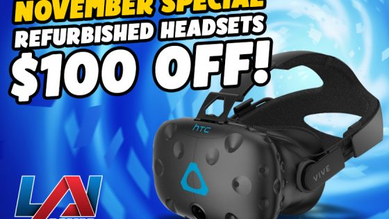 Refurbished HTC Vive Headsets for Virtual Rabbids